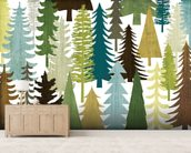 Woodland Trees wallpaper mural living room preview