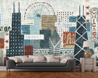 Hey Chicago wall mural