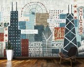 Hey Chicago wall mural kitchen preview