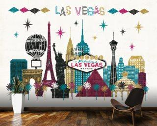 Vegas Skyline Mural Wallpaper Part 64