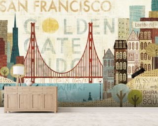 Hey San Francisco wall mural