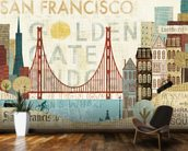 Hey San Francisco wall mural kitchen preview
