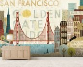 Hey San Francisco wall mural living room preview