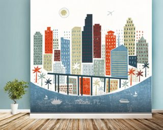 Colourful Miami Wallpaper Wall Murals Wallpaper