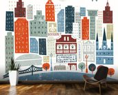 Colourful New Orleans mural wallpaper kitchen preview