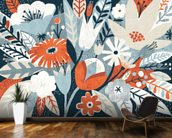 Vintage Bouquet Orange wall mural kitchen preview