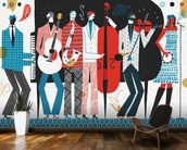 The Band wall mural kitchen preview