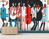 The Band wall mural living room preview