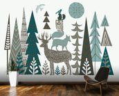 Forest Folklore wallpaper mural kitchen preview