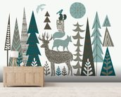Forest Folklore wallpaper mural living room preview