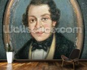 Miniature: Portrait of Abram Constable (1783-1862), brother of the artist (oil on board) mural wallpaper kitchen preview