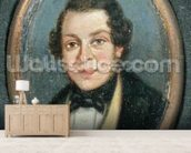Miniature: Portrait of Abram Constable (1783-1862), brother of the artist (oil on board) mural wallpaper living room preview