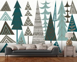 Forest Folklore Trees mural wallpaper