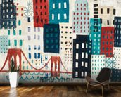 NY Skyline Collage wall mural kitchen preview