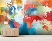 Seasons Change Abstract wall mural living room preview