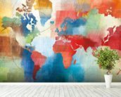 Seasons Change Abstract wall mural in-room view