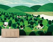Vermont wallpaper mural living room preview