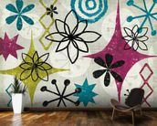 Mid Century Mystique mural wallpaper kitchen preview