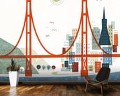 Colourful San Francisco wallpaper mural kitchen preview