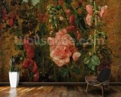 Study of Hollyhocks, c.1826 (oil on board) wallpaper mural kitchen preview