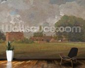 Golding Constables House, East Bergholt: The Artists birthplace (Landscape with Village and Trees) (oil on canvas) mural wallpaper kitchen preview