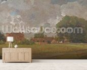Golding Constables House, East Bergholt: The Artists birthplace (Landscape with Village and Trees) (oil on canvas) mural wallpaper living room preview