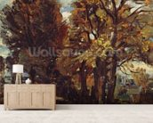 Sketch of a Lane at East Bergholt, c.1810 (oil on paper laid on canvas) wall mural living room preview