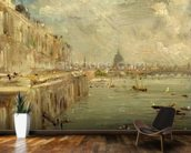 Somerset House Terrace from Waterloo Bridge, c.1819 (oil on panel) wallpaper mural kitchen preview