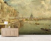 Somerset House Terrace from Waterloo Bridge, c.1819 (oil on panel) wallpaper mural living room preview