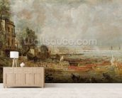 The Opening of Waterloo Bridge, c.1829-31 (oil on canvas) wall mural living room preview