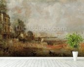 The Opening of Waterloo Bridge, c.1829-31 (oil on canvas) wall mural in-room view