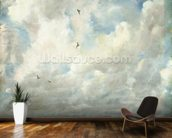 Cloud Study, 1821 (oil on paper laid down on board) wallpaper mural kitchen preview