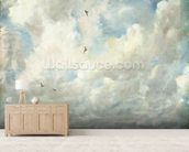 Cloud Study, 1821 (oil on paper laid down on board) wallpaper mural living room preview