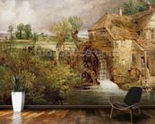Mill at Gillingham, Dorset, 1825-26 (oil on canvas) mural wallpaper kitchen preview