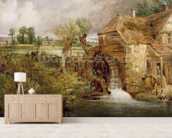 Mill at Gillingham, Dorset, 1825-26 (oil on canvas) mural wallpaper living room preview