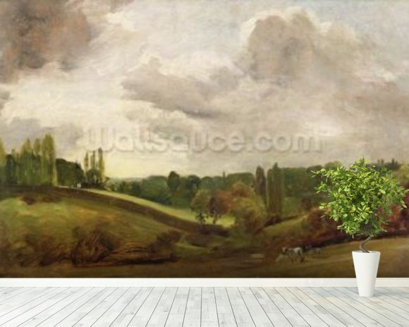 View of East Bergholt, c.1813 (oil on canvas) wall mural room setting