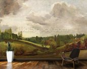 View of East Bergholt, c.1813 (oil on canvas) wall mural kitchen preview