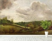 View of East Bergholt, c.1813 (oil on canvas) wall mural in-room view