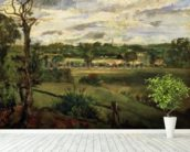 View of Highgate from Hampstead Heath, c.1834 (oil on cardboard) wall mural in-room view