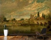 The Bridge of Harnham and Salisbury Cathedral, c.1820 mural wallpaper kitchen preview
