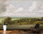 Landscape: Ploughing Scene in Suffolk (A Summerland) c.1824 (oil on canvas) wall mural kitchen preview