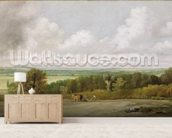 Landscape: Ploughing Scene in Suffolk (A Summerland) c.1824 (oil on canvas) wall mural living room preview