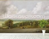 Landscape: Ploughing Scene in Suffolk (A Summerland) c.1824 (oil on canvas) wall mural in-room view