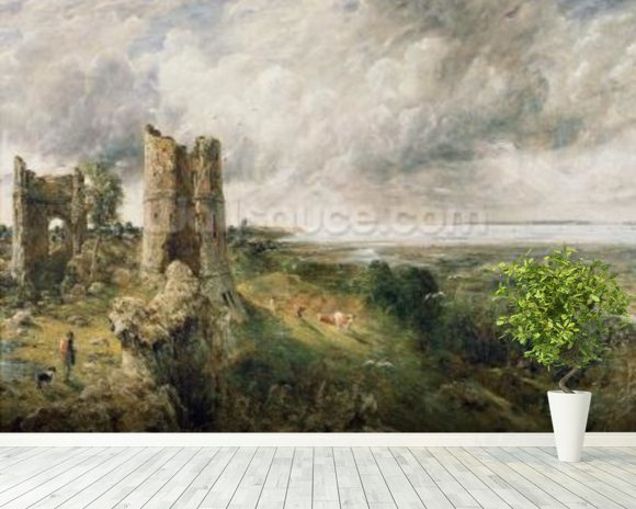 Constable john hadleigh castle wall mural for Castle mural wallpaper