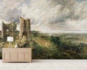 Hadleigh Castle, 1829 (oil on canvas) wallpaper mural living room preview