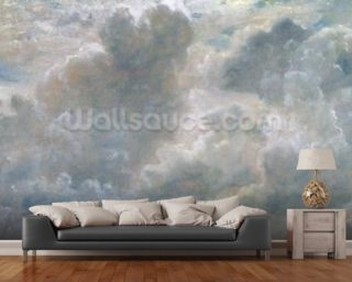Study of Cumulus Clouds, 1822 (oil on paper laid on canvas) Wallpaper Wall Murals
