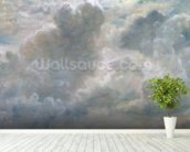 Study of Cumulus Clouds, 1822 (oil on paper laid on canvas) wall mural in-room view