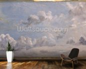 Study of Cumulus Clouds, 1822 (oil on paper laid down on panel) wallpaper mural kitchen preview