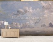 Study of Cumulus Clouds, 1822 (oil on paper laid down on panel) wallpaper mural living room preview