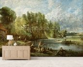 The Young Waltonians - Stratford Mill, c.1819-25 (oil on canvas) mural wallpaper living room preview